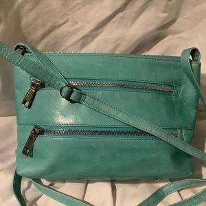 Hobo International Leather Mint Zipper Closure Bag